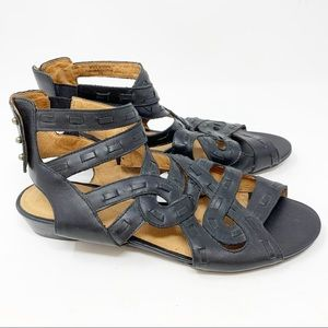Anthropologie Schuler & Sons leather wedge sandals